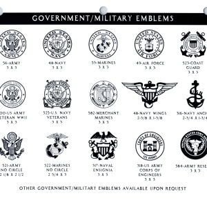 GOVERNMENT MILITARY EMBLEMS 1