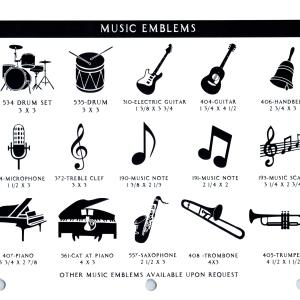 MUSIC EMBLEMS