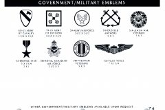 GOVERNMANT MILITARY EMBLEMS 2