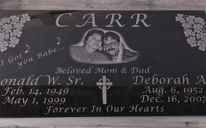 Black Granite Monument with picture