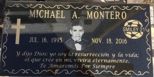 Black Granite Custom Memorial