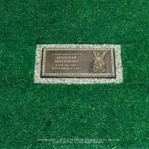 20X10 Baby and Child Memorials Little Flower Innocence Trav nv_71054793