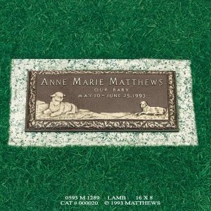 16x8 Baby and Child Memorials Lamb Rockedge nv_71030198