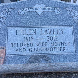 Grey Granite Slant Memorial