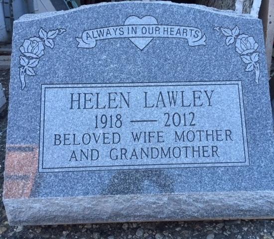 Grey Granite Slant Memorial