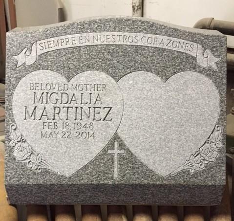 Grey slant granite marker