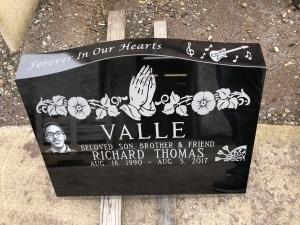 Black Slant Granite Memorial