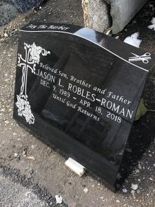 Black Slant Granite Marker