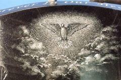 colon dove in clouds